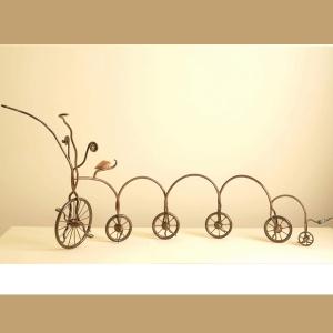 """אופניים - פסל """"מתגלגלים"""", ישראל פרימו"""