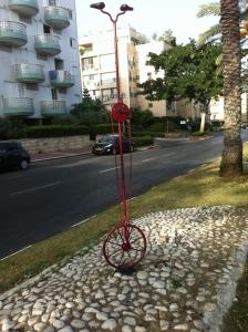 פסל אופניים של ישראל פרימו